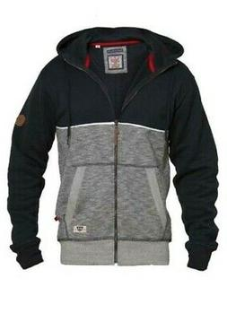 D555 Mens Big Size Full Zip Hoody With Piping Detail