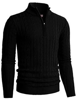 H2H Mens Casual Slim Fit Basic Designed Knit Pullover Sweate