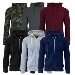 Mens Fleece Hoodie Jacket Sweater Layering Zip Up & Pullover