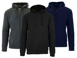 Mens French Terry Full Zip Hoodie Sweatshirt Sweater Sizes S