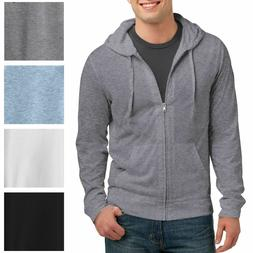 Mens Full Zip Hoodie Long Sleeve T-Shirt Young Mens Lightwei