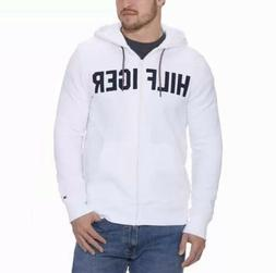 Tommy Hilfiger Mens Full Zip Hoodie White Size Large NWT Fas