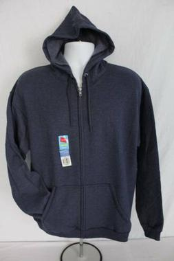 NEW Mens Hooded Jacket XL Full Zip Hoodie Hanes Sweatshirt P