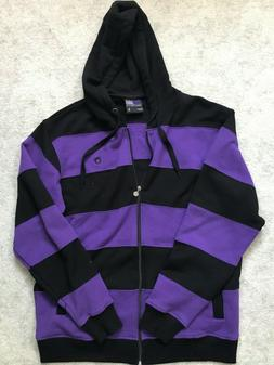 MENS SOUTHPOLE HOODIE BLACK AND PURPLE SIZE LARGE New Withou