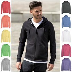 Mens Light Weight Thin Slim Fit Zip Zipped Hoodie Hoody Hood