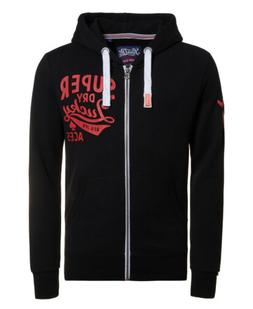 Mens Superdry Lucky Aces Zip Hoodie Black