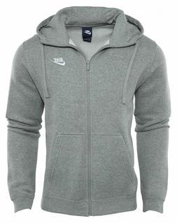 Mens Nike Sportswear Club Fleece Full Zip Charcoal Hoodie 80