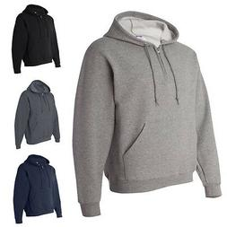 JERZEES Mens Sweatshirt Quarter-Zip Pullover Hoodie 994MR
