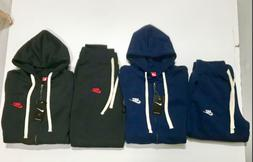 NIKE MENS SWEATSUIT HOODIE AND JOGGERS ZIP UP COMPLETE SET J