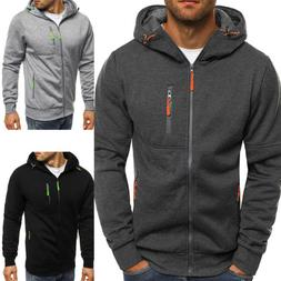 mens winter fleece hoodie warm hooded sweatshirt