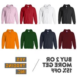 MENS WOMENS UNISEX PLAIN FULL ZIPPER HOODIE CASUAL HOODED ZI