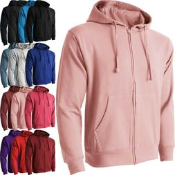 Mens ZIP UP HOODIE Jacket Fleece Pocket Sport Active Hooded