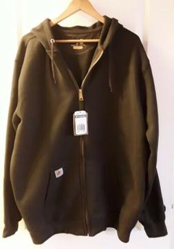 Carhartt Midweight Mens Hoody Zip Dark Brown All Sizes