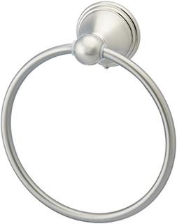 AmazonBasics Modern Towel Ring - Satin Nickel