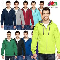 NEW Fruit of the Loom 7.2 oz. Sofspun  Full-Zip Hooded Sweat