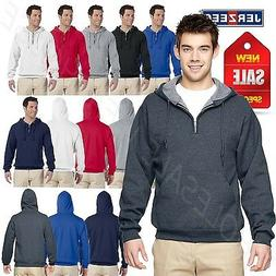 NEW Jerzees 8 oz 50/50 NuBlend Fleece Quarter Zip Pullover S