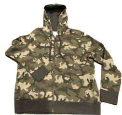 New: Time And Tru Camo Zip-Up Hoodie, Size XL