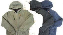 NEW BUFFALO DAVID BITTON Men's Full Zip Sherpa Lined Hoodie