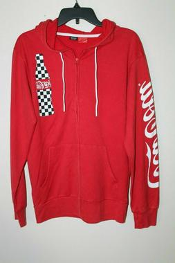 NEW Men's Coca-Cola Hoodie Coke Soda Pop Bottle Full Zip Swe