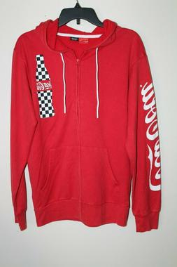 NEW Men's Coca-Cola Hoodie Sz S Coke Soda Pop Bottle Full Zi