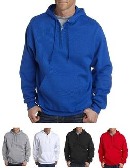 Jerzees NEW Men's S-3XL NuBlend 996QZ 1/4 Zip Hooded Sweatsh