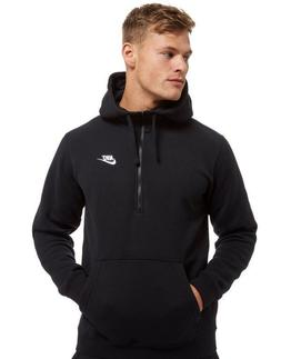 NEW MEN'S NIKE CLUB HALF ZIP FLEECE HOODIE SWEATSHIRT!!! I