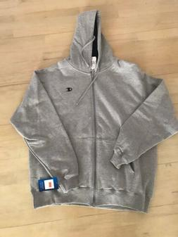 New Mens Grey Champion Men's Full-zip Eco Fleece Hoodie Jack