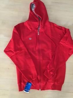 New Mens Red Champion Men's Full-zip Eco Fleece Hoodie Jacke