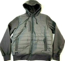 NEW O'NEILL 'Shibuya Quilted Hoodie' Men's S Gray Zip Jacket