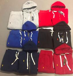 New Ralph Lauren Polo Sweat Suit Complete Suit Full Zip Hood