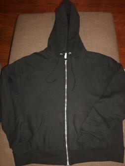 NEW Champion Reverse Weave Full Zip Hoodie Black sz M B GRAD