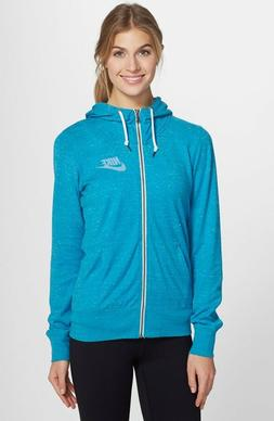 NEW WOMEN'S NIKE LONG-SLEEVE GYM VINTAGE FULL ZIP HOODIE S