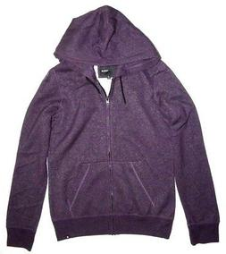 New Hurley Womens Solid Icon Full Zip Fleece Hoodie Small