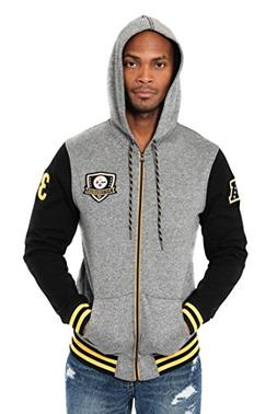 Icer Brands NFL Pittsburgh Steelers Men's Full Zip Fleece Ho