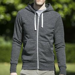 Nwot Gustin Full Zip Hoodie Heather Charcoal Men's Small Mad
