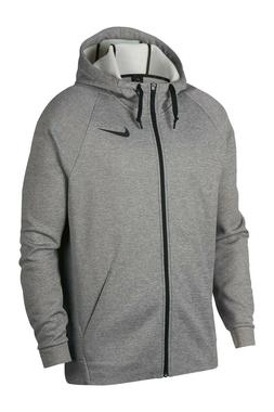 NWT NIKE Men's Dri Fit Full Zip Fleece Hoodie Sweatshirt Gra