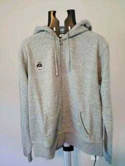 NWT Ralph Lauren Polo Bear Zip Up Hoodie Sweatshirt Gray Lim
