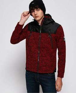 NWT100$  Superdry Men's Storm Mountain Double Zip Hoodie Red