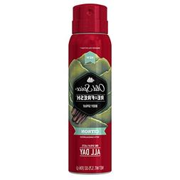 Old Spice Re-Fresh Fresher Collection Citron Body Spray, 3.7