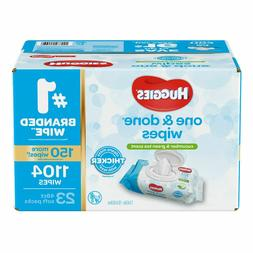 Huggies One & Done Baby Wipes, Scented