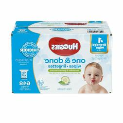 Huggies One & Done Scented Baby Wipes, Hypoallergenic, 3 Ref