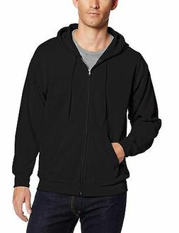 Hanes Men's Full Zip EcoSmart Fleece Hoodie, Black, X-Large
