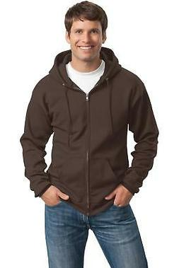 PC78ZH Port & Company Classic Full-Zip Hooded Sweatshirt Men