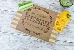 Personalized Custom Laser Engraved Bamboo Wood Cutting Board