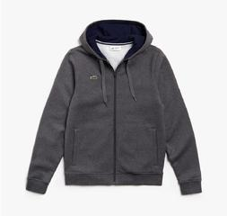 mens sport full zip fleece hoodie pitch