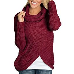 Plus Size Sweaters for Women Ladies Long Sleeve Solid Sweats