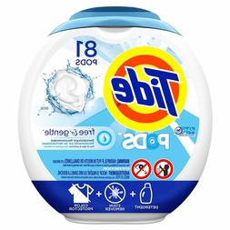 Tide PODS Free & Gentle HE Turbo Laundry Detergent Pacs 81-l