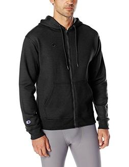 Champion Men's Powerblend Full-Zip Hoodie, Black, Medium