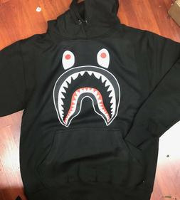 Pullover Fashion Bape Shark Tooth Pattern Printing Zip Casua
