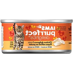 Iams Purrfect Delights Pate Adult Wet Cat Food, Chicken, 3 O